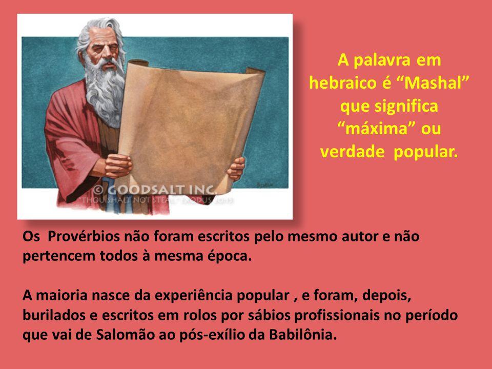 A palavra em hebraico é Mashal que significa máxima ou verdade popular.