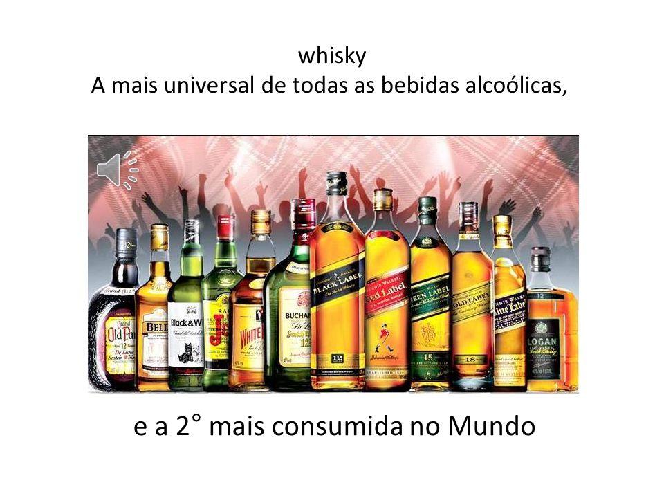 whisky A mais universal de todas as bebidas alcoólicas,