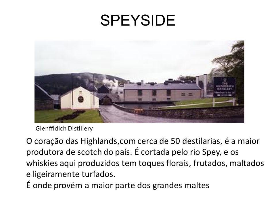 SPEYSIDE Glenffidich Distillery.