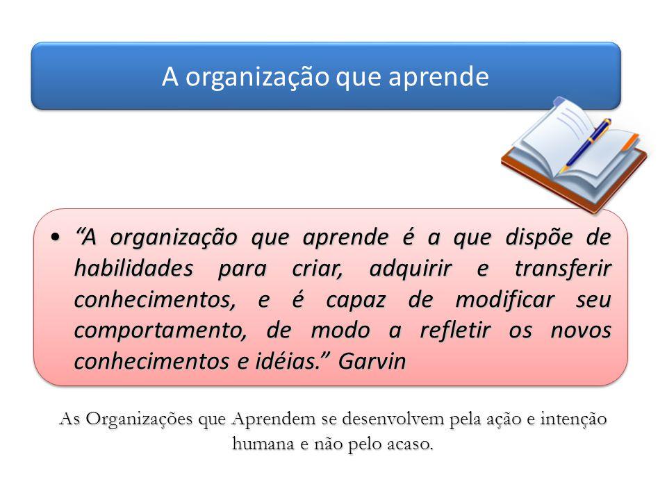 A organização que aprende