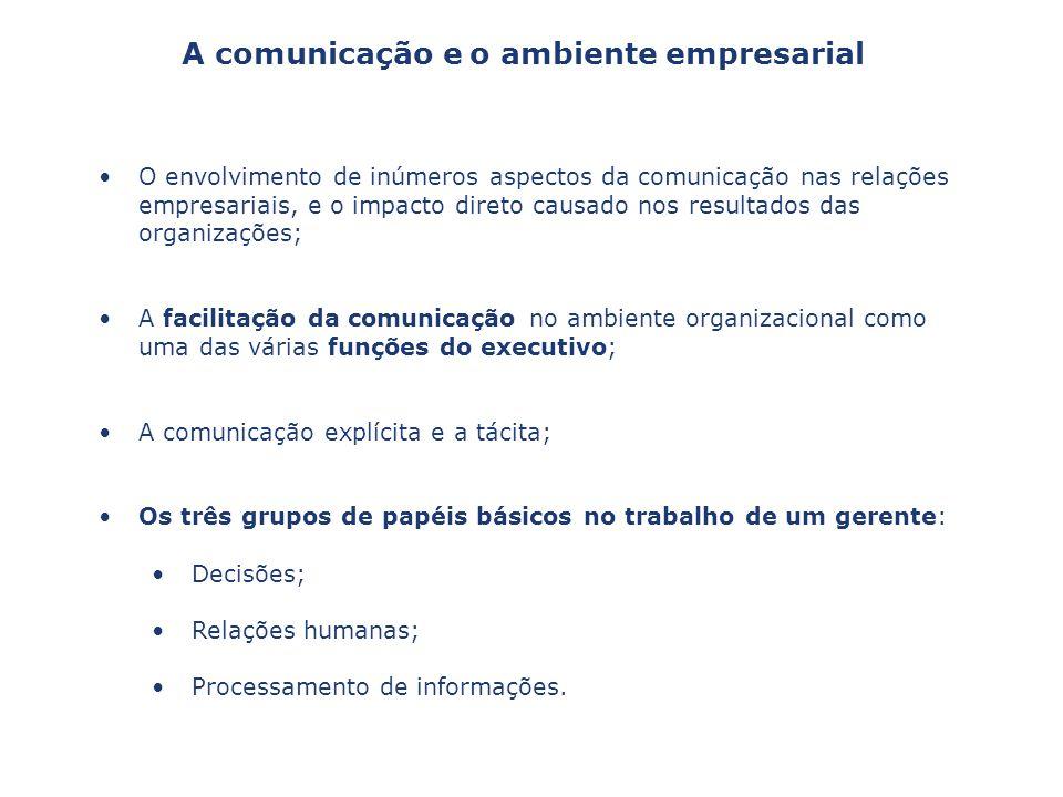 A comunicação e o ambiente empresarial