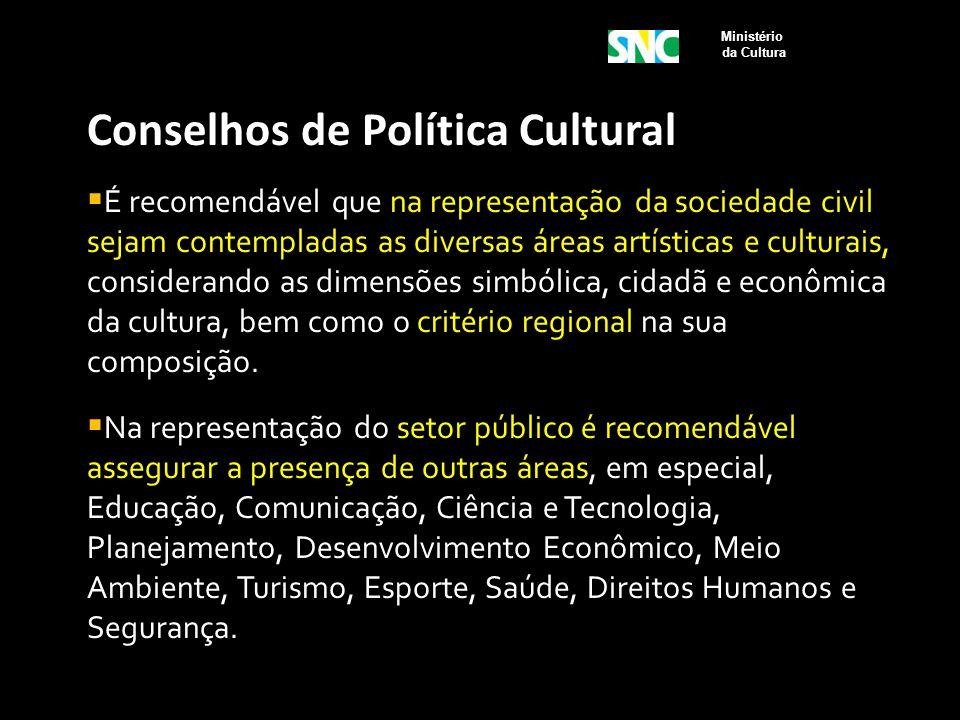 Conselhos de Política Cultural
