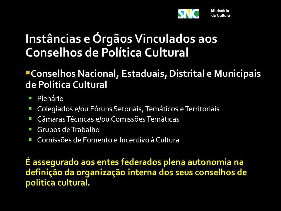 Instâncias e Órgãos Vinculados aos Conselhos de Política Cultural