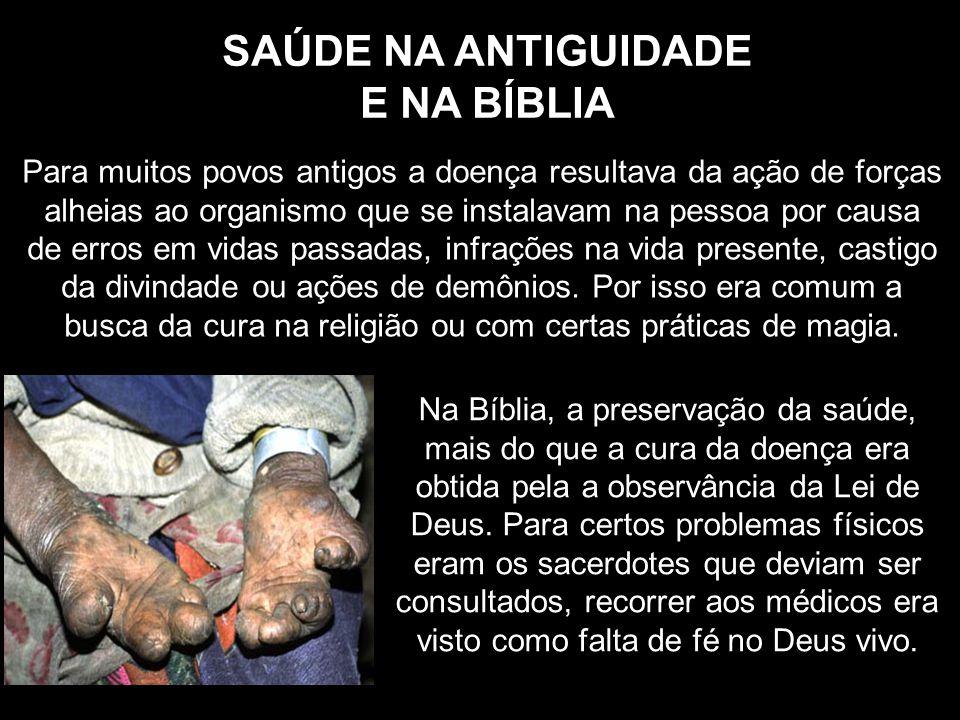 SAÚDE NA ANTIGUIDADE E NA BÍBLIA