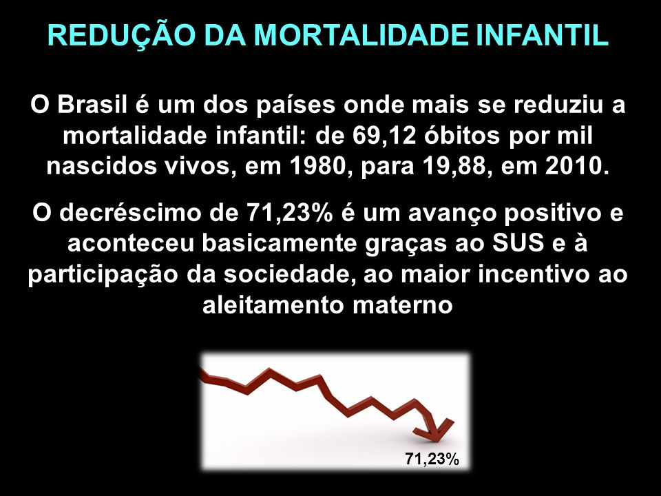 REDUÇÃO DA MORTALIDADE INFANTIL