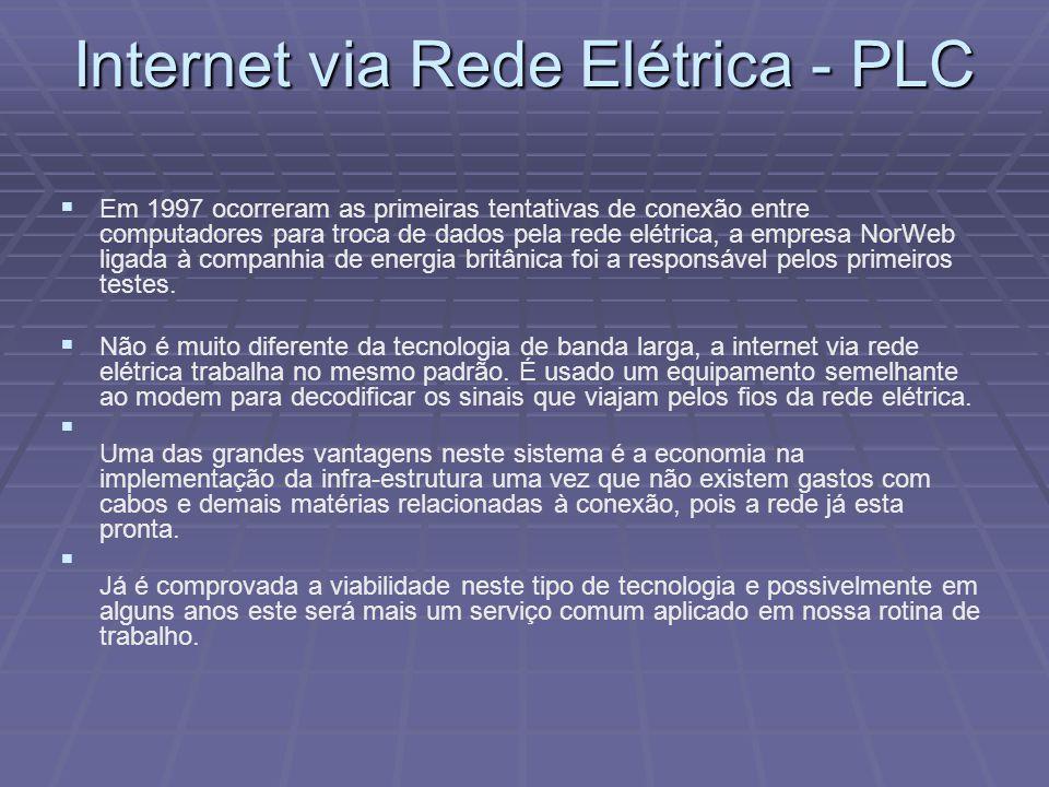 Internet via Rede Elétrica - PLC