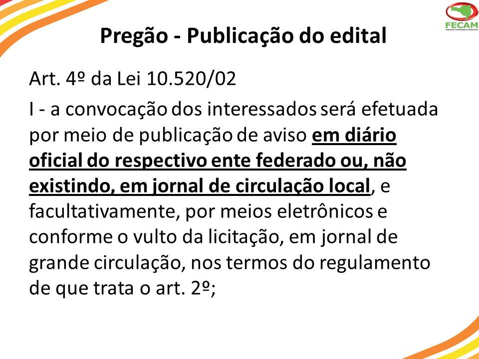 Pregão - Publicação do edital