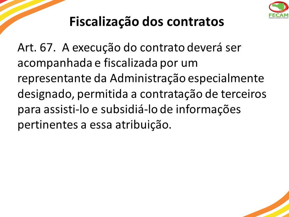 Fiscalização dos contratos