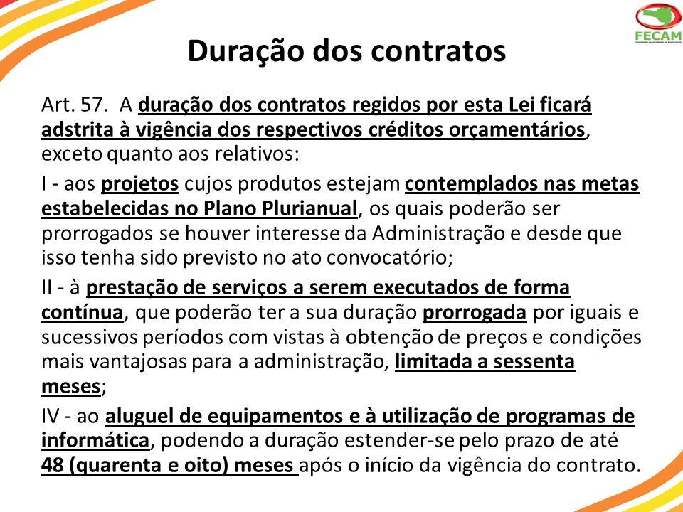 Duração dos contratos