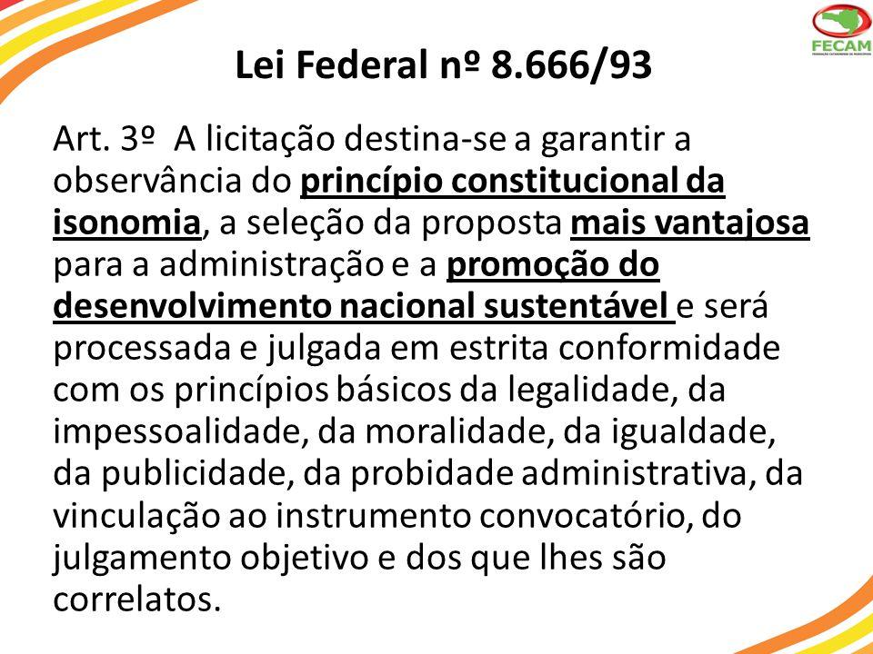 Lei Federal nº 8.666/93