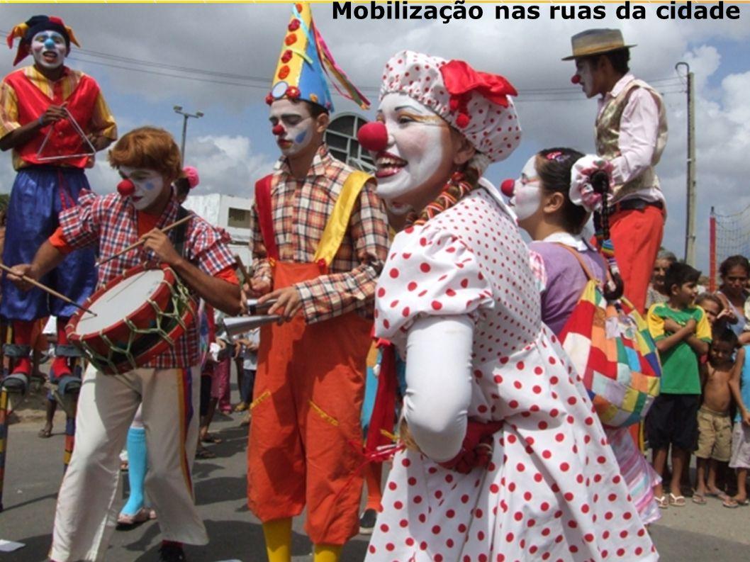 Mobilização nas ruas da cidade
