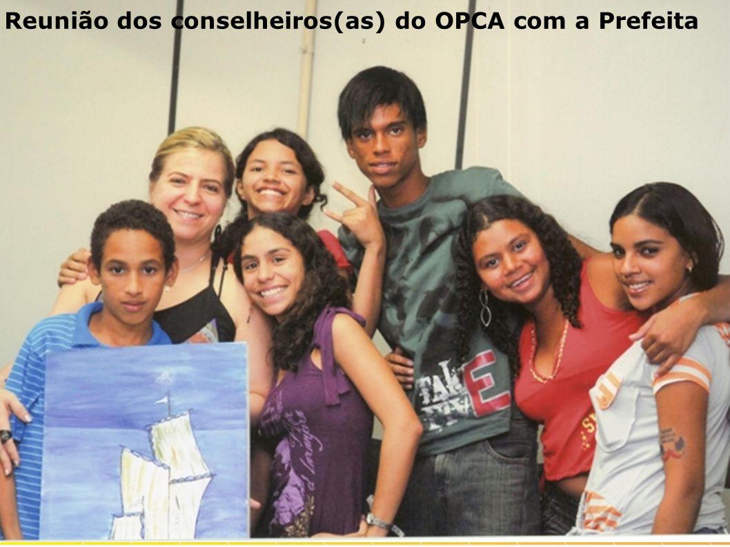 Reunião dos conselheiros(as) do OPCA com a Prefeita