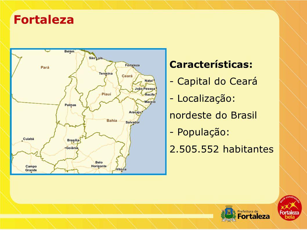 Fortaleza Características: - Capital do Ceará - Localização: