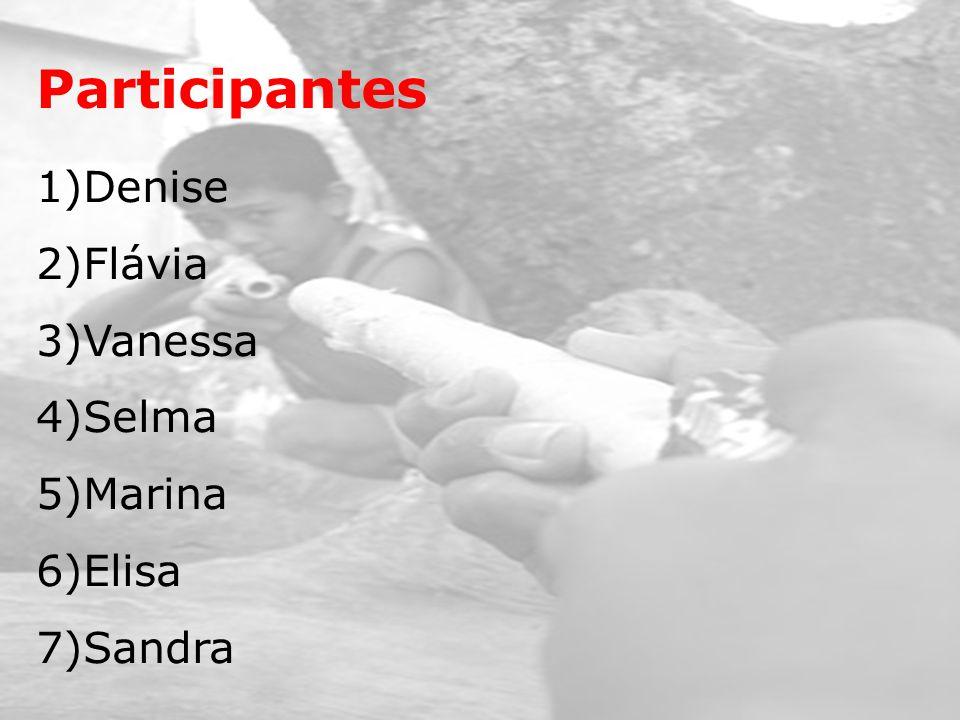 Participantes 1)Denise 2)Flávia 3)Vanessa 4)Selma 5)Marina 6)Elisa