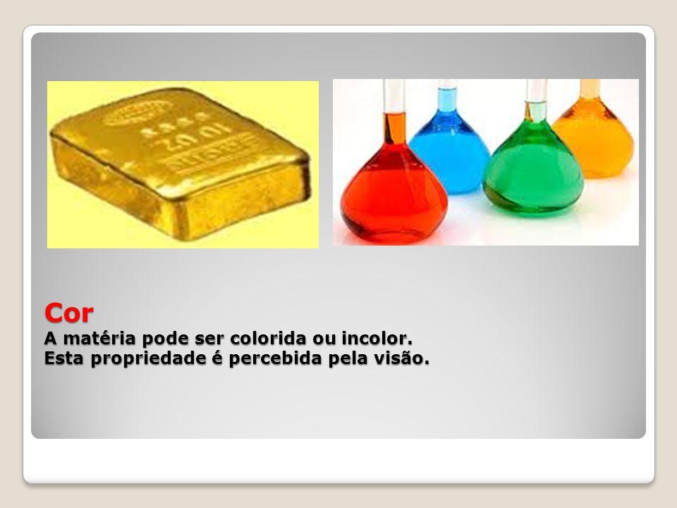 Cor A matéria pode ser colorida ou incolor