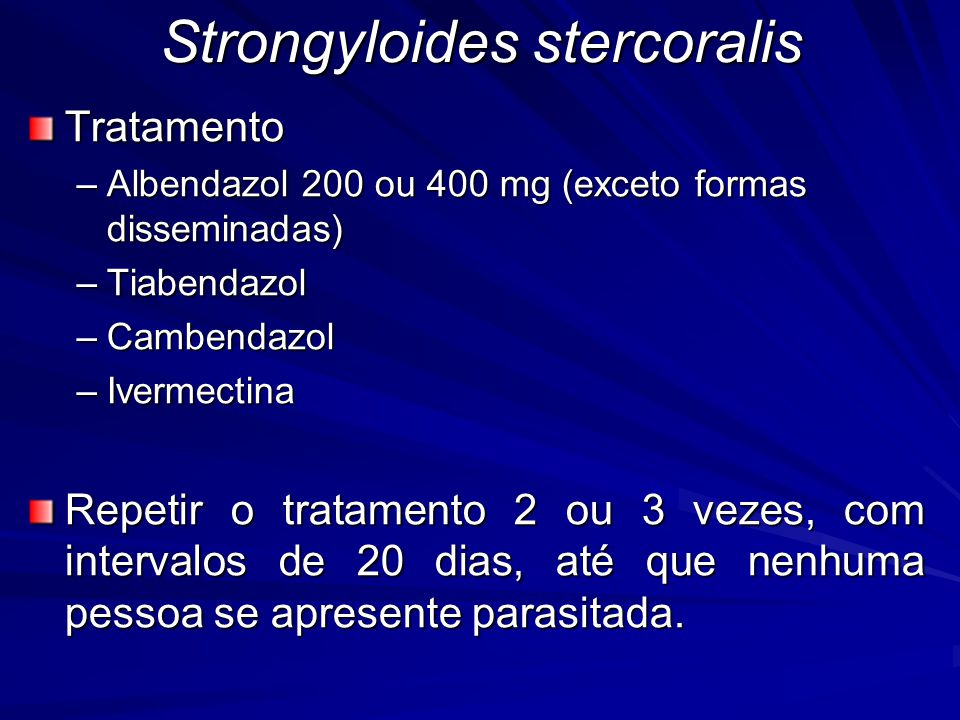 Strongyloides stercoralis
