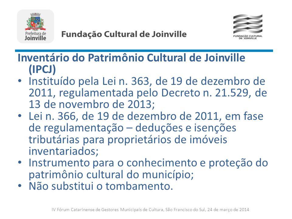 Inventário do Patrimônio Cultural de Joinville (IPCJ)