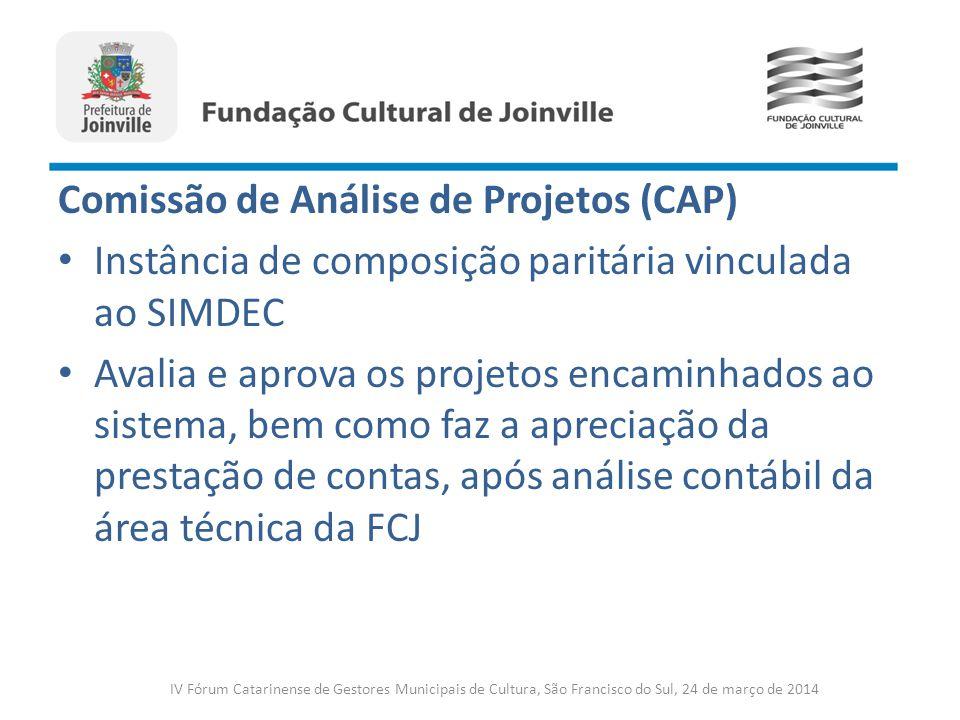 Comissão de Análise de Projetos (CAP)