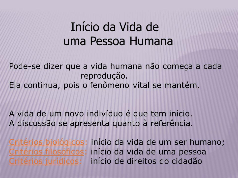 Início da Vida de uma Pessoa Humana