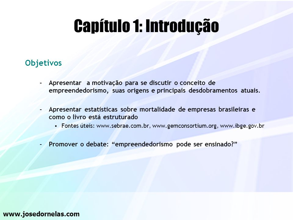 Capítulo 1: Introdução Objetivos