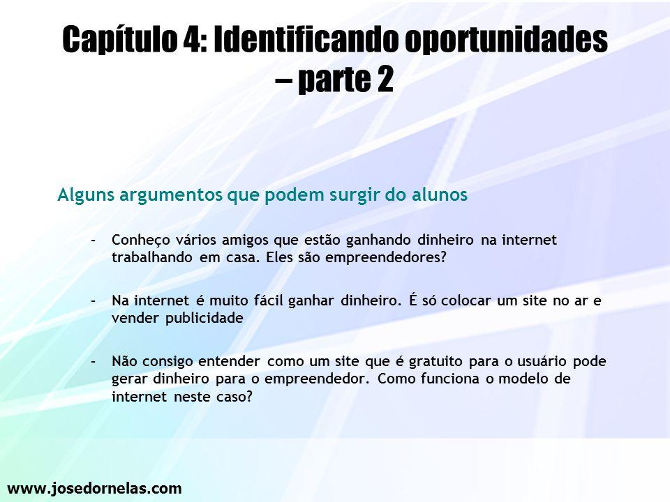 Capítulo 4: Identificando oportunidades – parte 2