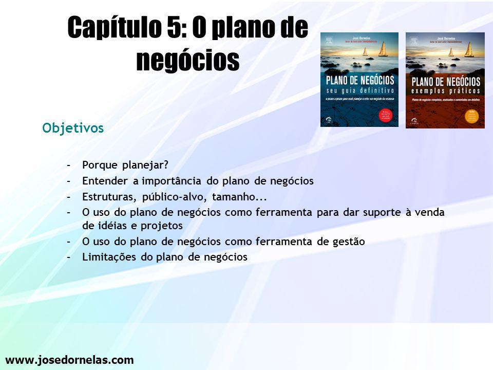Capítulo 5: O plano de negócios
