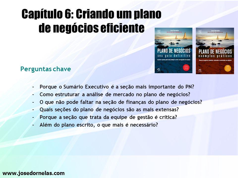 Capítulo 6: Criando um plano de negócios eficiente