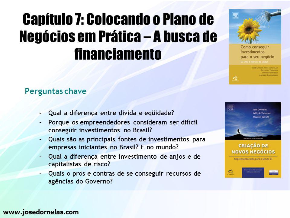 Capítulo 7: Colocando o Plano de Negócios em Prática – A busca de financiamento