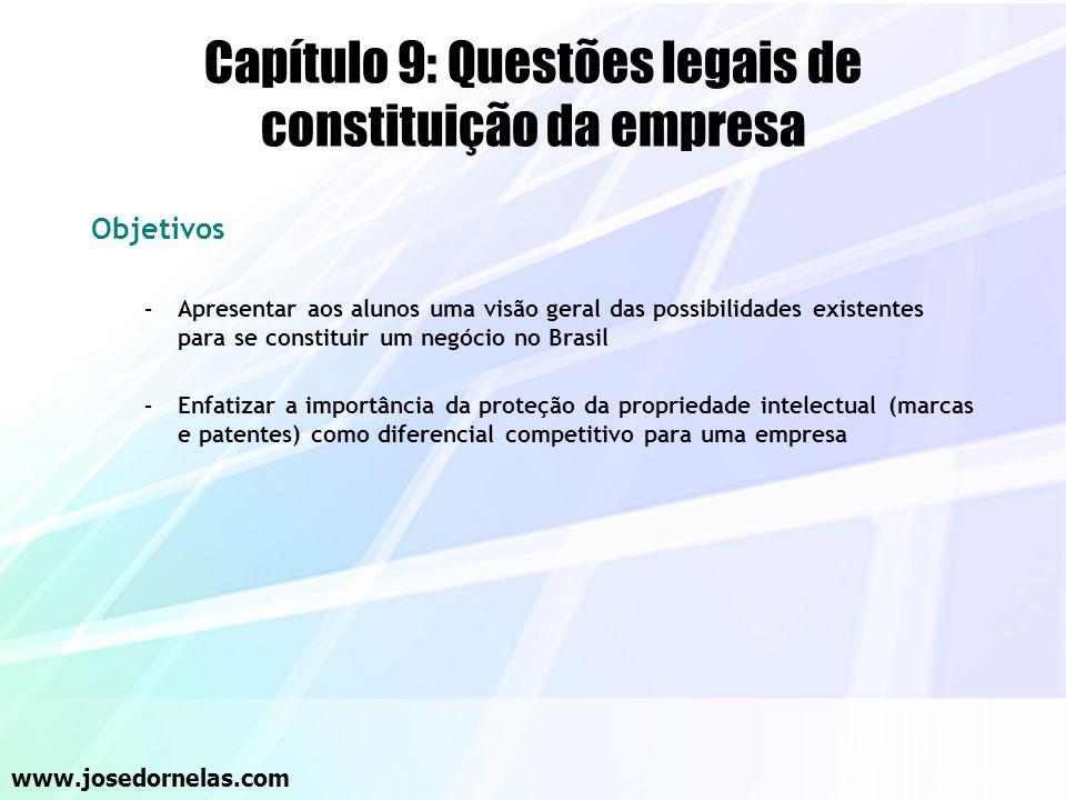 Capítulo 9: Questões legais de constituição da empresa