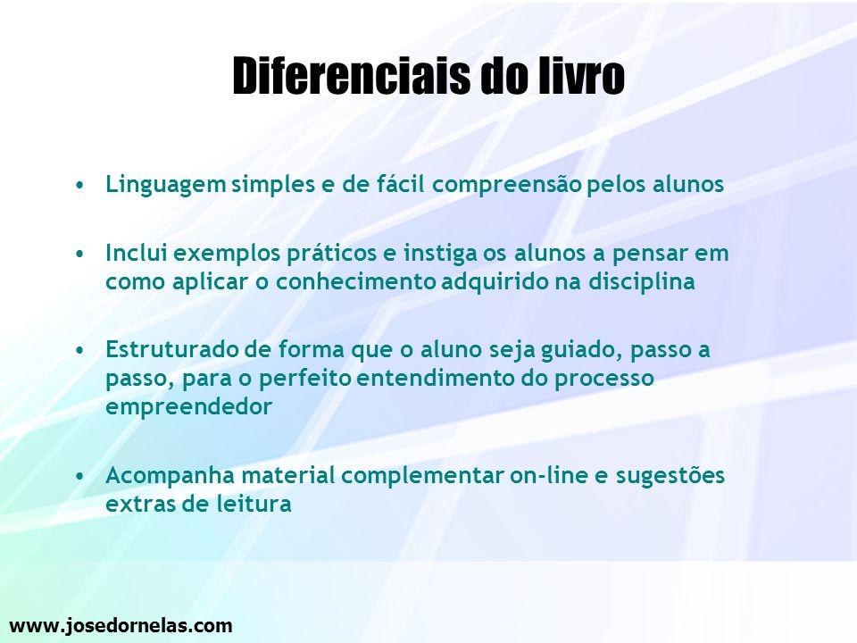 Diferenciais do livro Linguagem simples e de fácil compreensão pelos alunos.