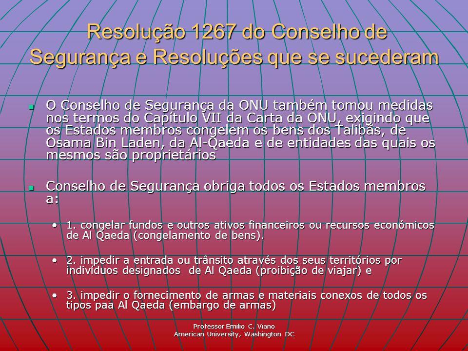 Resolução 1267 do Conselho de Segurança e Resoluções que se sucederam