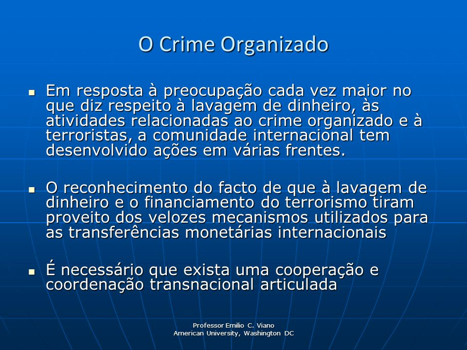 O Crime Organizado