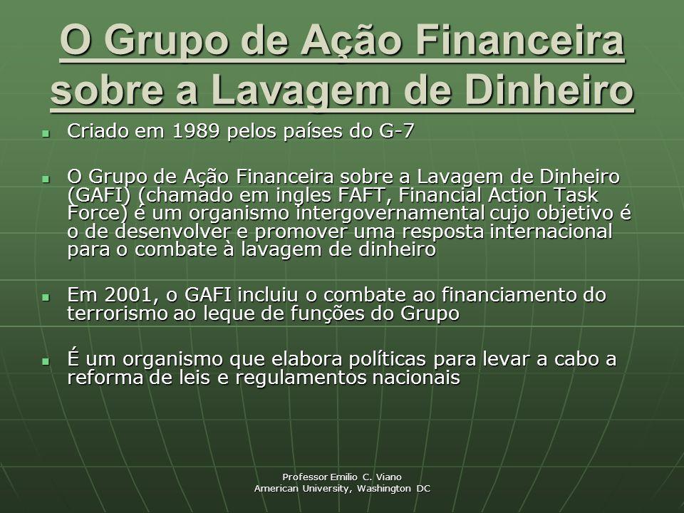 O Grupo de Ação Financeira sobre a Lavagem de Dinheiro