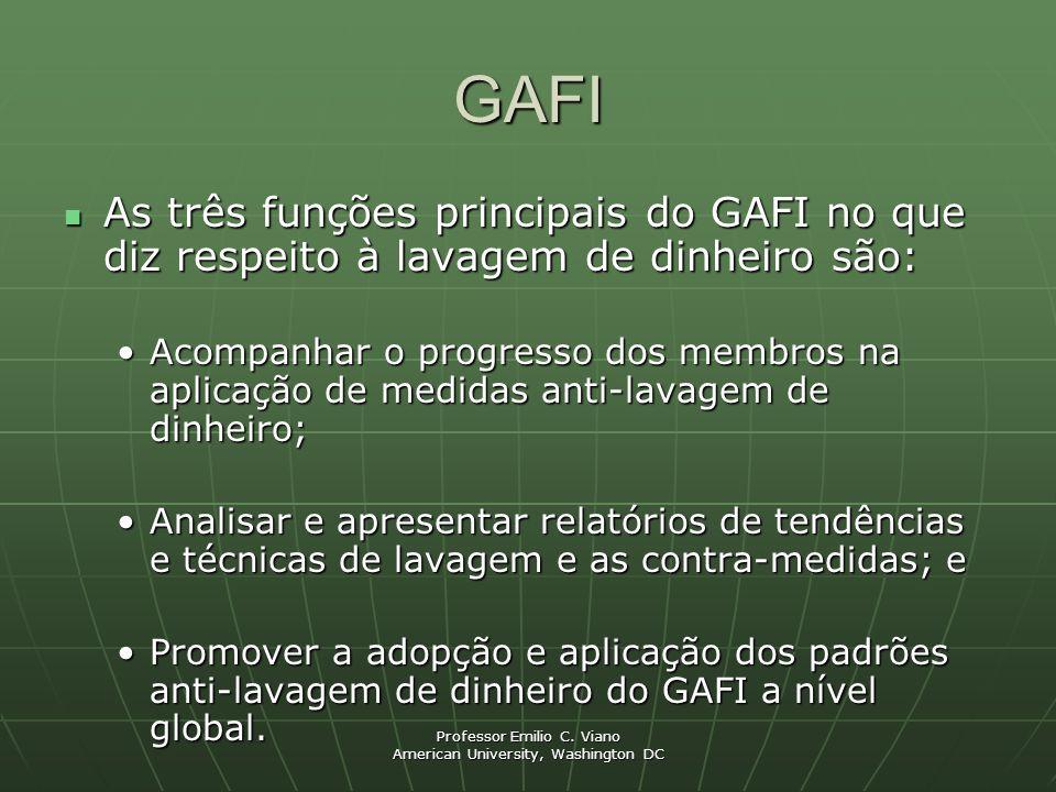 GAFI As três funções principais do GAFI no que diz respeito à lavagem de dinheiro são: