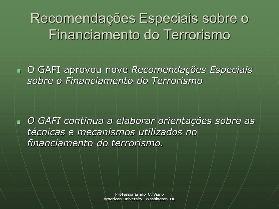 Recomendações Especiais sobre o Financiamento do Terrorismo