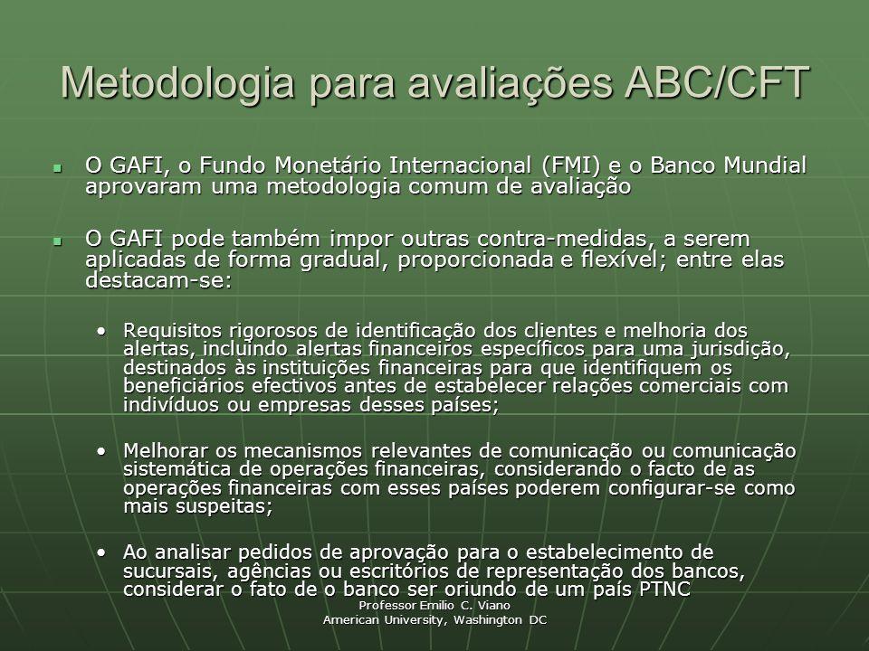 Metodologia para avaliações ABC/CFT