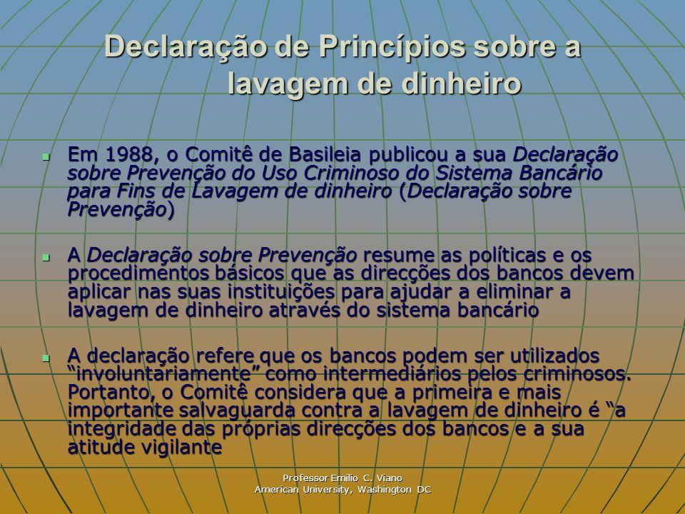 Declaração de Princípios sobre a lavagem de dinheiro
