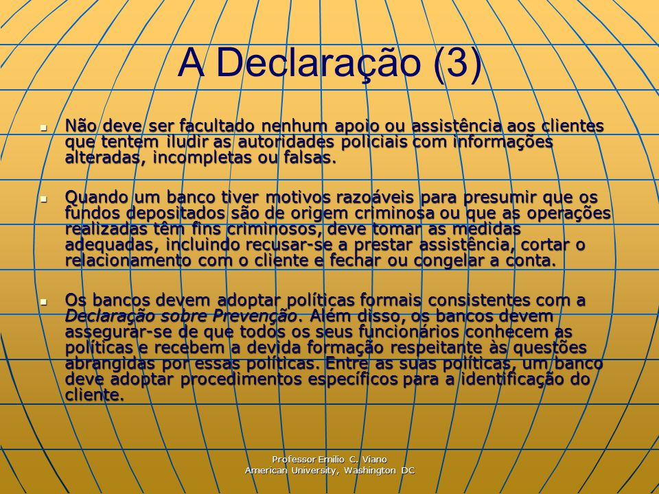 A Declaração (3)
