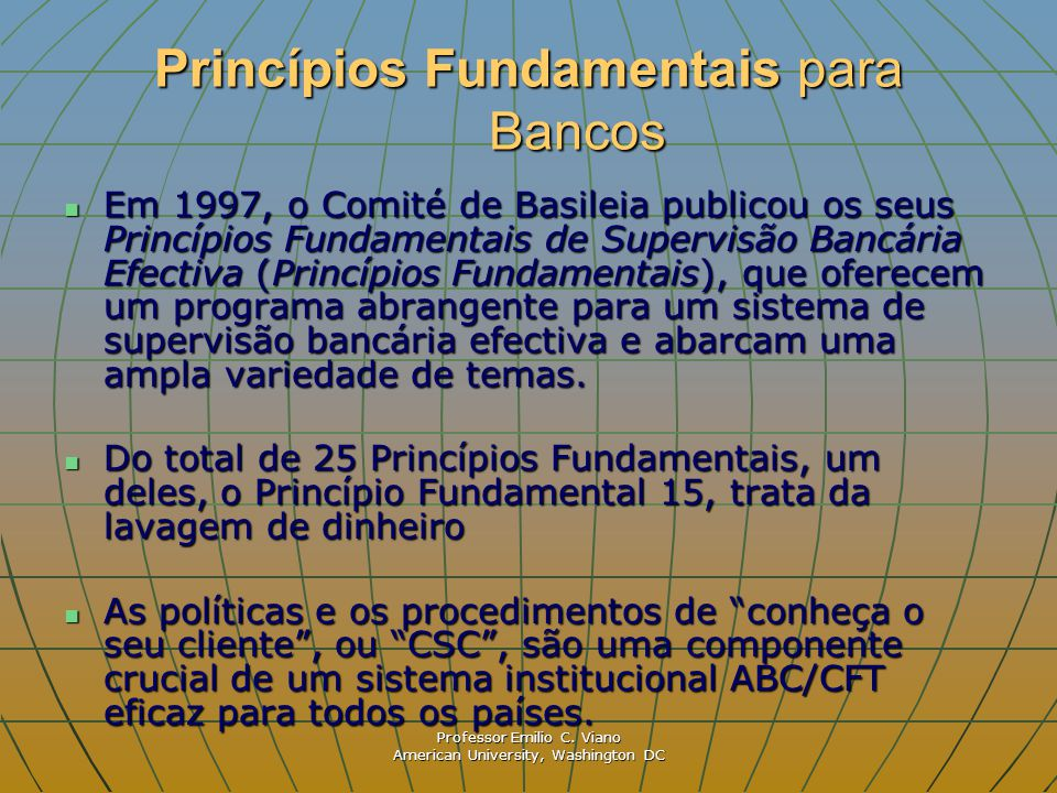 Princípios Fundamentais para Bancos