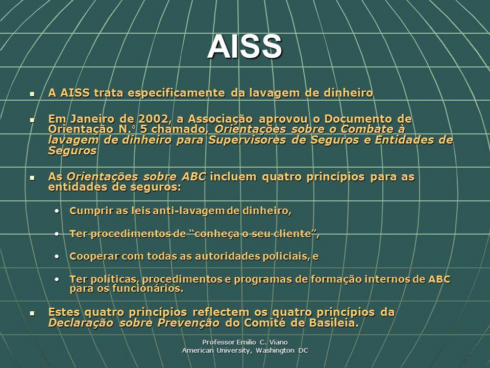 AISS A AISS trata especificamente da lavagem de dinheiro