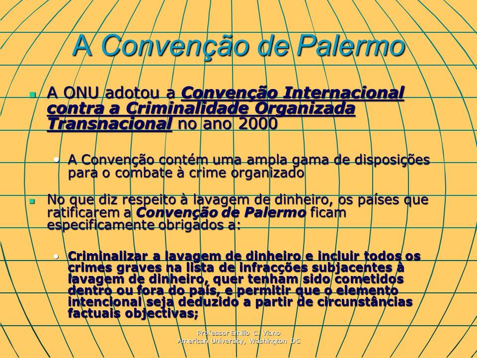 A Convenção de Palermo A ONU adotou a Convenção Internacional contra a Criminalidade Organizada Transnacional no ano 2000.