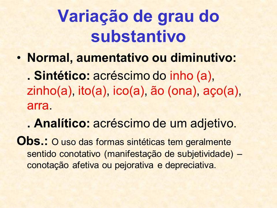 Variação de grau do substantivo