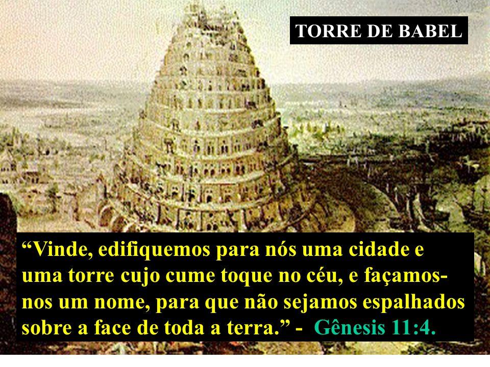 sobre a face de toda a terra. - Gênesis 11:4.
