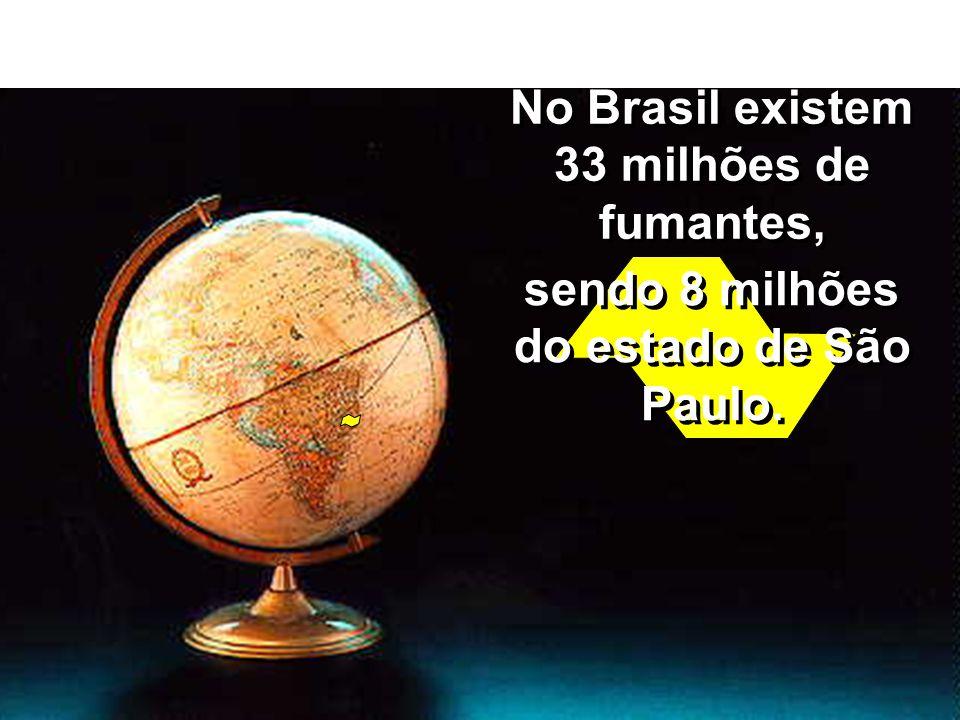 No Brasil existem 33 milhões de fumantes,