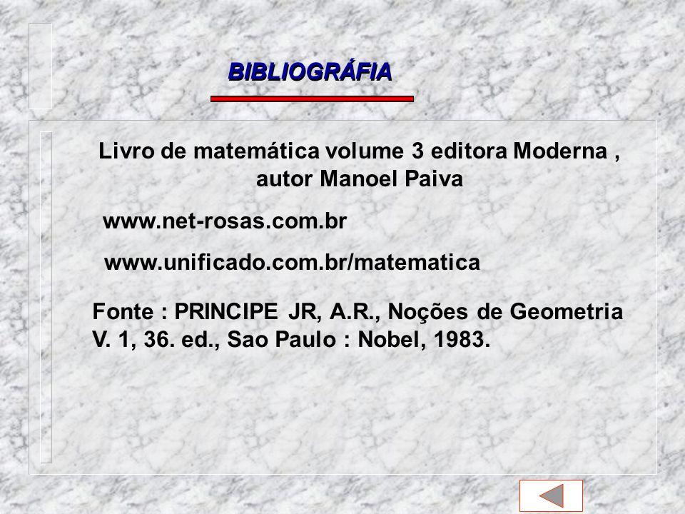 Livro de matemática volume 3 editora Moderna , autor Manoel Paiva