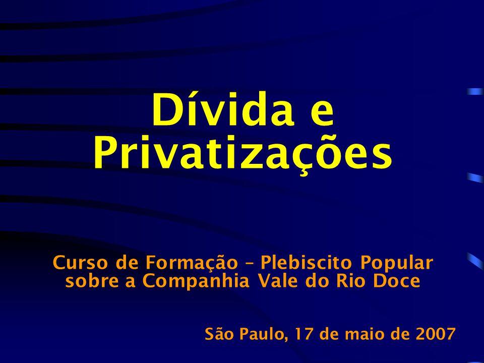Dívida e Privatizações