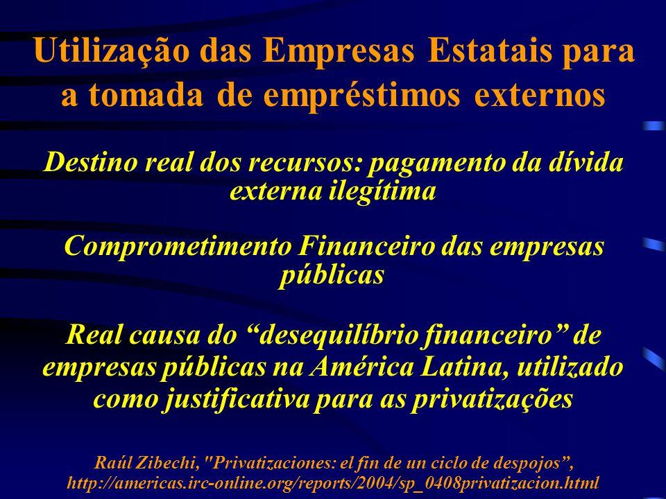 Utilização das Empresas Estatais para a tomada de empréstimos externos