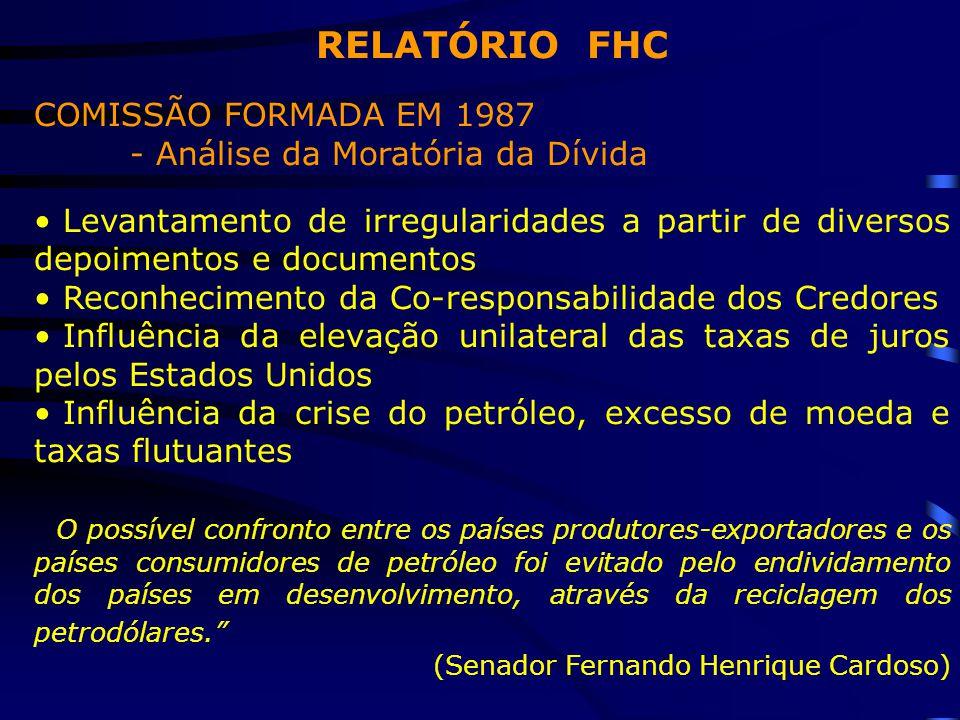 RELATÓRIO FHC COMISSÃO FORMADA EM 1987