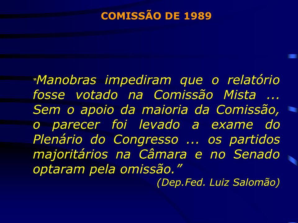 COMISSÃO DE 1989 (Dep.Fed. Luiz Salomão)