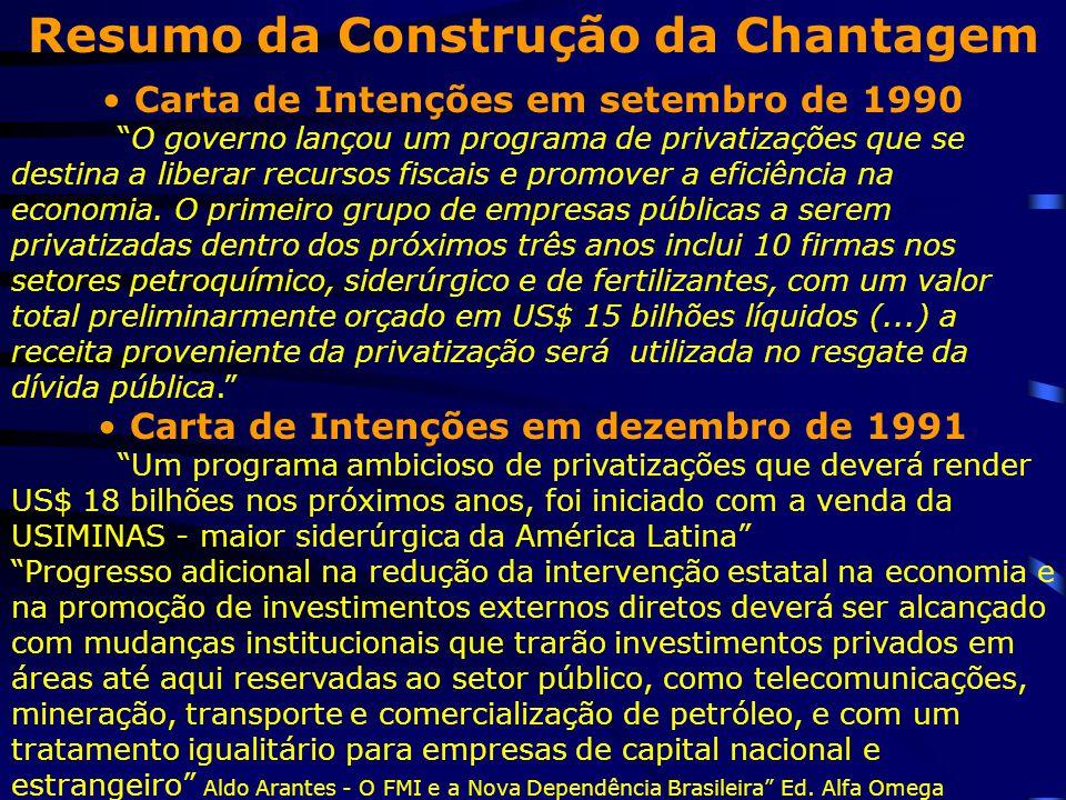 Resumo da Construção da Chantagem